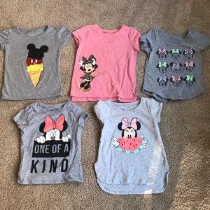 Lot of 2t Disney shirts
